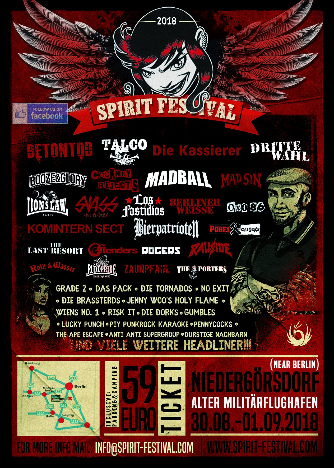 TICKET: 12. Spirit Festival(30.08. bis 01.09.2018)